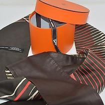 Hermes 100% Silk Wrap/scarf/belt in Brown Multi-Color Size Large on Sale Df Photo