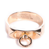 Hermes 18k Rose Gold Collier De Chien Pm Ring Size 52 Us 6  Photo