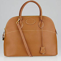 Hermes 35cm Gold Courchevel Leather Gold Plated Bolide Bag Photo