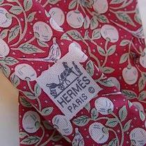Hermes 7068ta - Birds & Berries Authentic Silk Tie - Excellent Condition Photo