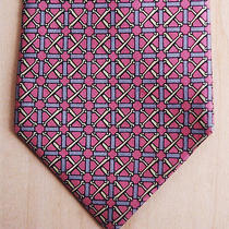 Hermes 991sa Soft Pink Gate and Horse-Bit Design silktie.3 1/8