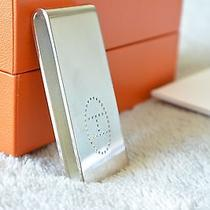 Hermes Authentic Eclipse Sterling Silver Money Clip Holder Beautiful - Rare Photo