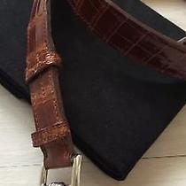 Hermes Authentic Etriviere Brown Porosus Crocodile Belt Photo