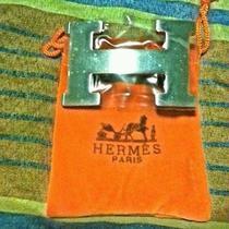 Hermes Authentic Silver Plated Palladium Belt Buckle Photo