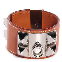 Hermes Barenia Collier De Chien Bracelet Cdc Fauve Large  Photo