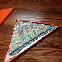 Hermes Basketweave Triangle Scarf Never Worn in Box Photo
