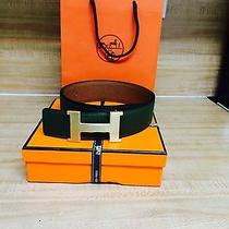 Hermes Belt Reversible Brown and Olive Fits 34-36 Photo
