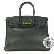 Hermes Birkin 35 Black Fjord Tote Bag Ghw Mprs Photo