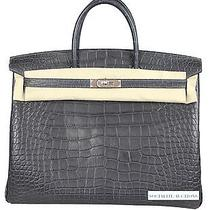Hermes Birkin 40cm New Graphite Matte Alligator With Palladium Hardware Photo