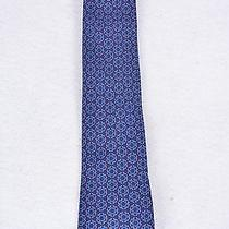 Hermes - Blue Tie With Blue and Burgundy Design Photo