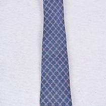 Hermes - Blue Tie With Blue Red and Beige Design Photo