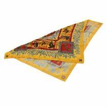 Hermes Boyfriend 90 Large Scarf Kymbala Ancient Rome Silk 100 Yellow Mult 14971 Photo