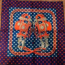 Hermes Brides De Gala Love Scarf 45 Brid Do Carre Silk Violet Orange by Dhl Photo