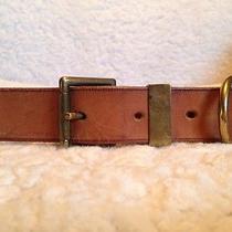 Hermes Brown Leather Belt 39