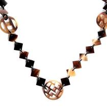 Hermes Buffalo Horn and Lacquer Lena Necklace H Jewelry Photo