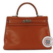 Hermes Candy Kelly 35 Brickorange Epsom Tote Bag Phw Mprs Photo