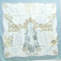 Hermes Carre 90 Cm Scarf Doigts De Fee Silk Grayish Blue France 13170730300 K Photo
