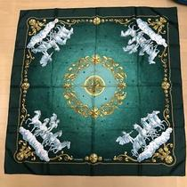 Hermes Carre 90 Scarf Cosmos Green Auth 012609 Photo