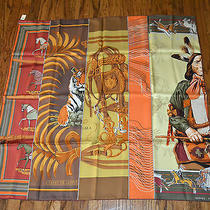Hermes Carre Silk Twill Scarf Patchwork Bali Barret 36