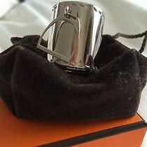 Hermes Charm's Etrier Silver and Palladium Plated Scarf Ring Photo