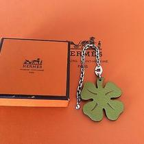 Hermes Clover Motif Sterling Silver 925 Bag Charm / Rodeo / Birkin /kelly Photo
