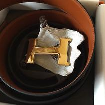 Hermes Constance Belts 42mm Fuave and Black 90cm Photo