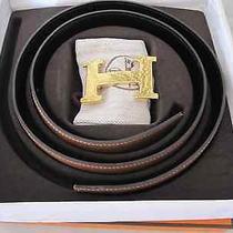 Hermes Constance H Buckle Belt -Reversible Brown /black - Women's / 85 Cm W/box Photo
