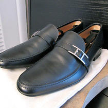Hermes Dan Moccasin Leather Tuscan Calfskin 8.5 Loafer Palladium Plated H Buckle Photo