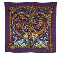 Hermes De Tout Coeur Multi-Color Silk Scarf Photo