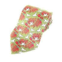 Hermes Dove Print Silk Tie  Photo