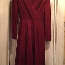 Hermes Dress Burgundy/wine  36 Wrap Excellent Photo