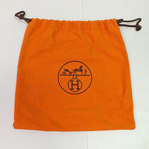 Hermes Dust Cover Bag Orange Cotton Small Storage for Purse 9