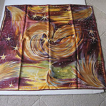 Hermes Feux Du Ciel Limited Edition  Kwumi Sefedin Silk Scarf  35x35 Photo
