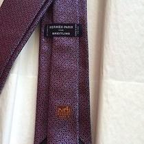 Hermes for Breitling Mens Neck Tie- New in Box Photo