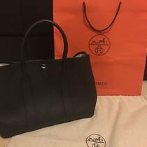 Hermes Garden Party 36 Mm Black Togo Leather Like New R Year Photo