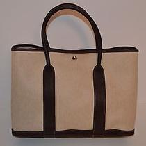 Hermes Garden Party Tote Textured Canvas Never Used New Photo
