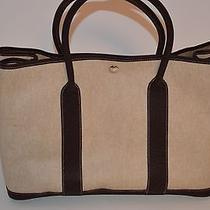 Hermes Garden Party Tote Textured Canvas New Never Used Photo