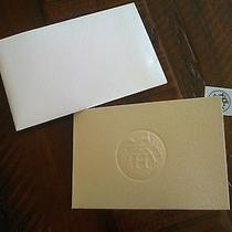 Hermes Gift Note Card Envelope and Sticker Brand New Photo