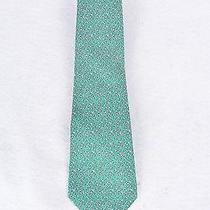 Hermes - Green Tie With Green Blue and Grey Design Photo