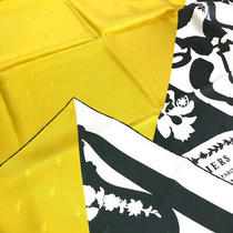 Hermes Kare 90 Tatuage Etriers Armor Scarf Silk/ Women 'S Khaki Yellow 14850 Photo