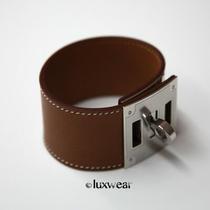 Hermes Kelly Dog Bracelet Natural Barenia With Silver Photo