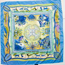 Hermes La Vie Du Grand Nord Honore Silk Scarf 0 Ship Photo