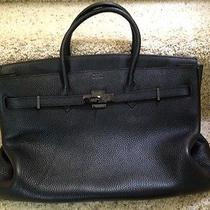 Hermes Large Black Handbag Photo