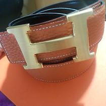 Hermes Leather High-End Men's Belt Size 90  Atmosphere (105cm) Photo