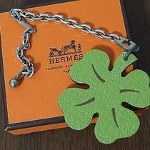 Hermes Lucky Clover Key Chain Bag Charm in Perfect Condition  Photo