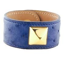 Hermes Medor  Blue Ostrich Bracelet Photo