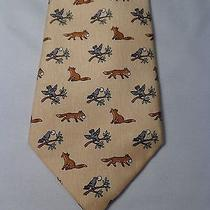 Hermes Mens Tie Awesome Foxes and Birds Photo