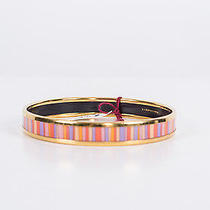 Hermes Multi Color Striped Bangle Bracelet Photo