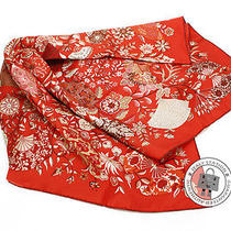 Hermes New 90 Orange Silk Scarf Mprs Photo
