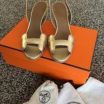 Hermes Night 70 Pumps in Gold Size 35.5  Photo